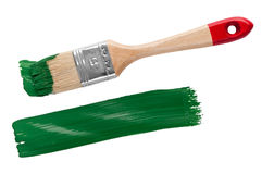 Brush with paint Royalty Free Stock Images
