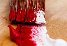 Brush with paint Royalty Free Stock Image