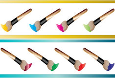 Brush paint. Brushes easy to resize or change color Royalty Free Stock Photo