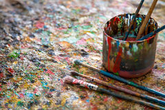 Brush, paint, artistic Stock Photography