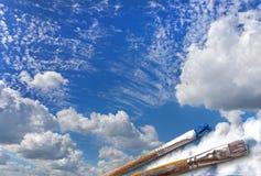 Brush paint a beautiful sky Stock Image