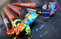 Brush  paint  close-up Stock Photo