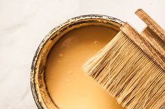 Brush and paint closeup Royalty Free Stock Image