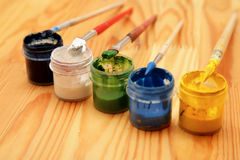 The brush and paint Stock Image