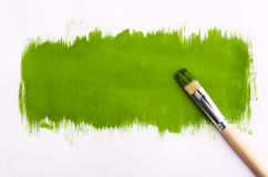Brush for paint. On gray background Royalty Free Stock Photo