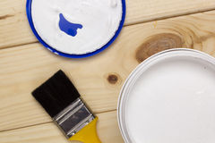 Brush for paint and paint Royalty Free Stock Images