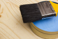 Brush for paint and paint Royalty Free Stock Photography