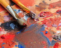 Brush and paint painter Stock Images