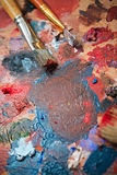 Brush and paint painter Royalty Free Stock Image