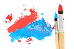 Brush and paint scratch Royalty Free Stock Image