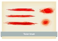 Brush paint splashes vector Royalty Free Stock Photography