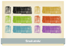 Brush paint splashes vector Royalty Free Stock Images