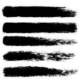 Brush paint stroke set. For your business project Stock Photo