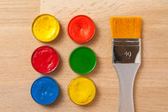 Brush, paint supplies stock photography