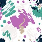 Brush painted seamless pattern Vol.3 Royalty Free Stock Image