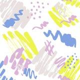 Brush painted seamless pattern Vol.1 Royalty Free Stock Image