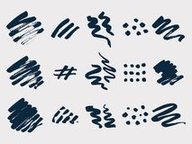 Brush painted stains  set Stock Images