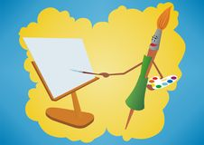 Brush-painter Stock Images