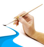 Brush for painting and hand Stock Photos