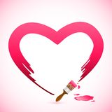 Brush Painting Heart. Easy to edit vector illustration of brush painting heart shape stock illustration