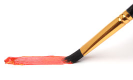 Brush painting over white Royalty Free Stock Photography