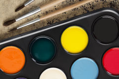 Brush and paints Royalty Free Stock Image