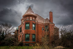 Brush Park Mansion. A historic home located in the Brush Park community in Detroit, Michigan Royalty Free Stock Image