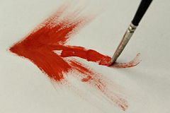 Brush pencil orange. On the image is simply painting abstract royalty free stock images