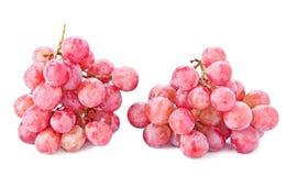 Brush pink grapes . Royalty Free Stock Photo