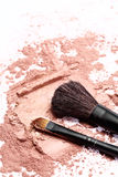 Brush on pink powder Royalty Free Stock Images