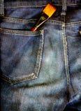 Brush in pocket Stock Photos