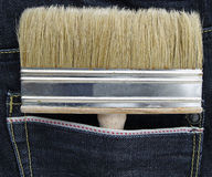 Brush in pocket Stock Images
