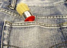Brush in pocket Stock Photo