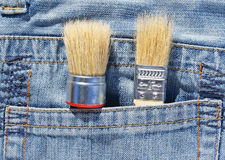 Brush in pocket Royalty Free Stock Photos