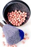 Brush and powder Stock Images