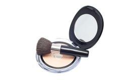 Brush and powder Stock Image