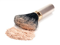 Brush and powder isolated Stock Images