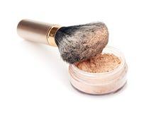 Brush and powder isolated Stock Photo