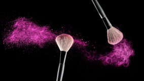 Brush with powder Stock Photography