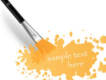 Brush and print Royalty Free Stock Photo