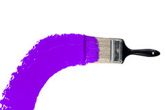 Brush With Purple Paint Stock Photos