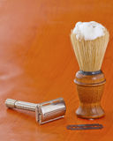 Brush and razor Stock Photography