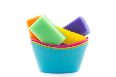 Brush and scouring pads Royalty Free Stock Photos