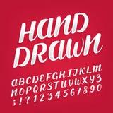 Brush script distressed alphabet vector font Stock Image