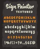 Brush script textured alphabet Royalty Free Stock Photography