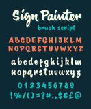 Brush script vector alphabet Stock Photo
