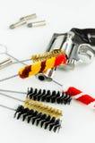 Brush Set Cleaning Gun Royalty Free Stock Image
