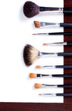 Brush set for make-up Royalty Free Stock Photo