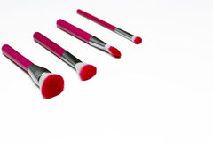 Brush set is for makeup. Royalty Free Stock Images