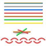 Brush Set. Round colored brush. Vector. eps-10 Stock Image